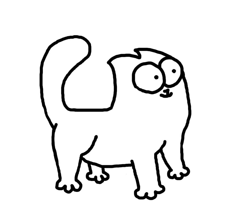 simon cat free coloring pages - photo#36