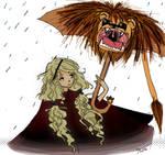 Luna+GryffindorUmbrella