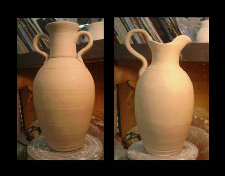 Amphora and Ewer