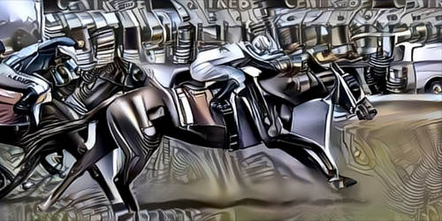 chrome racing horse