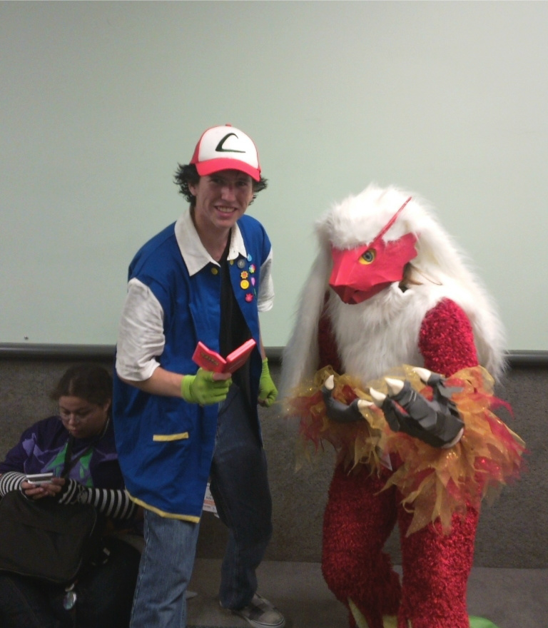 Blaziken and Trainer Cosplay by zepeda26