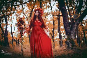 Mabon - Autumn Goddess by LucreciaMortishia