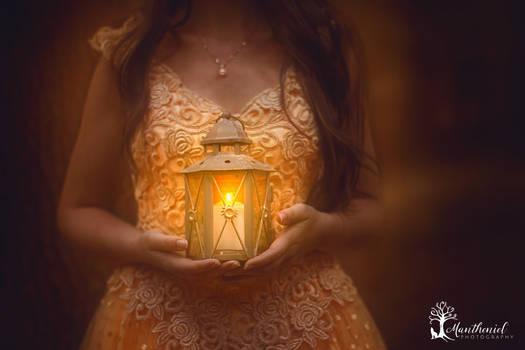 Magical world in lantern...
