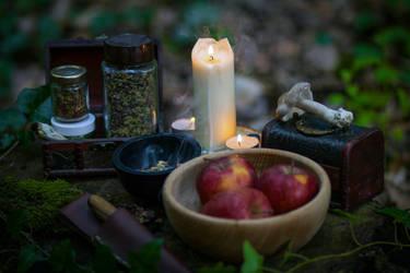 Wicca ritual by LucreciaMortishia