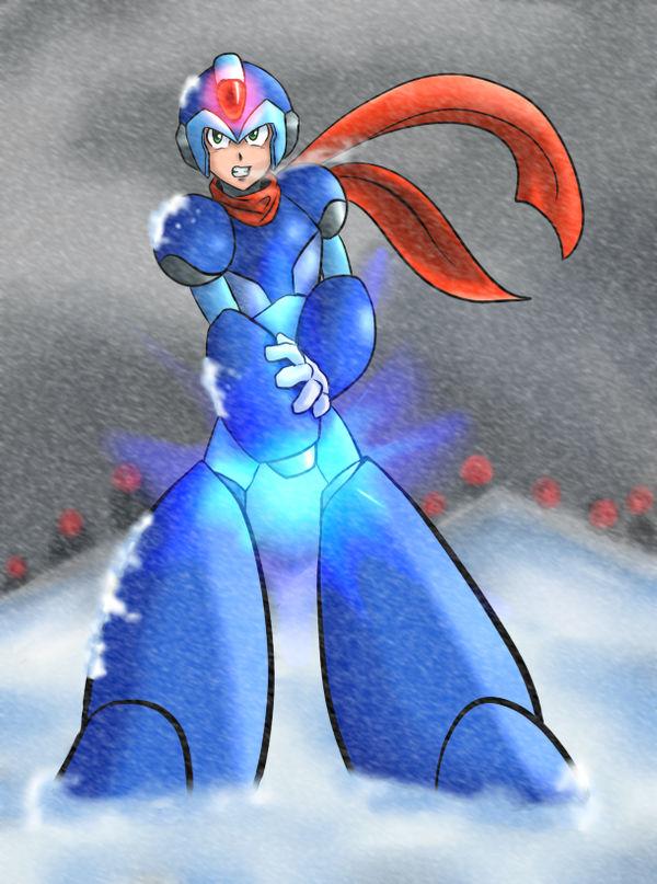 Megaman X VS Snow Storm Mavericks