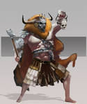 wild warrior character concept