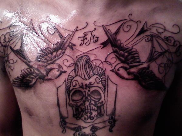 rockabilly skull tattoo by tjboy702 on deviantart. Black Bedroom Furniture Sets. Home Design Ideas