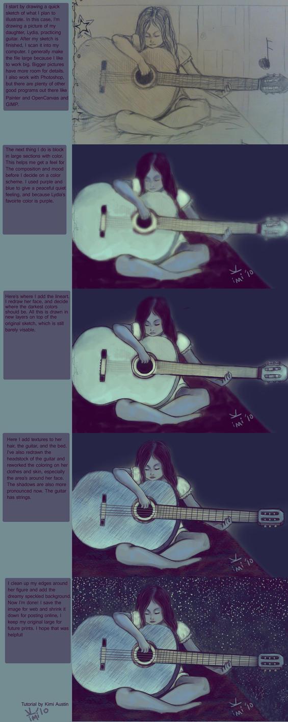 Lydia's Guitar Tutorial by kimikana