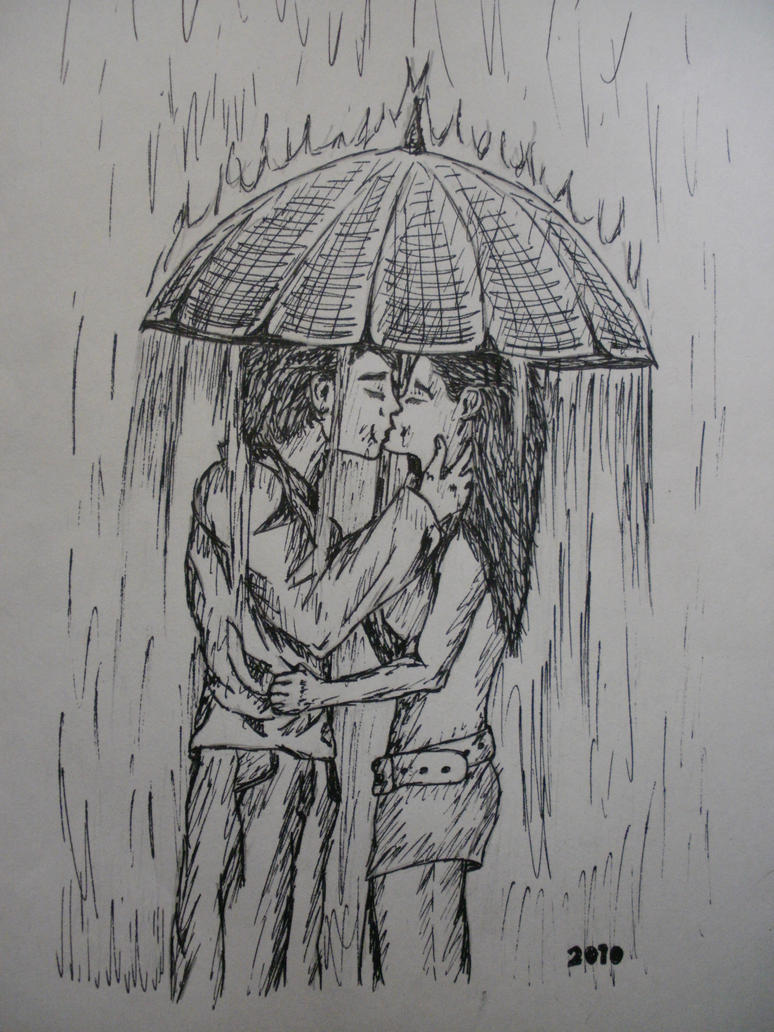 Kiss in the rain by missfricz on DeviantArt
