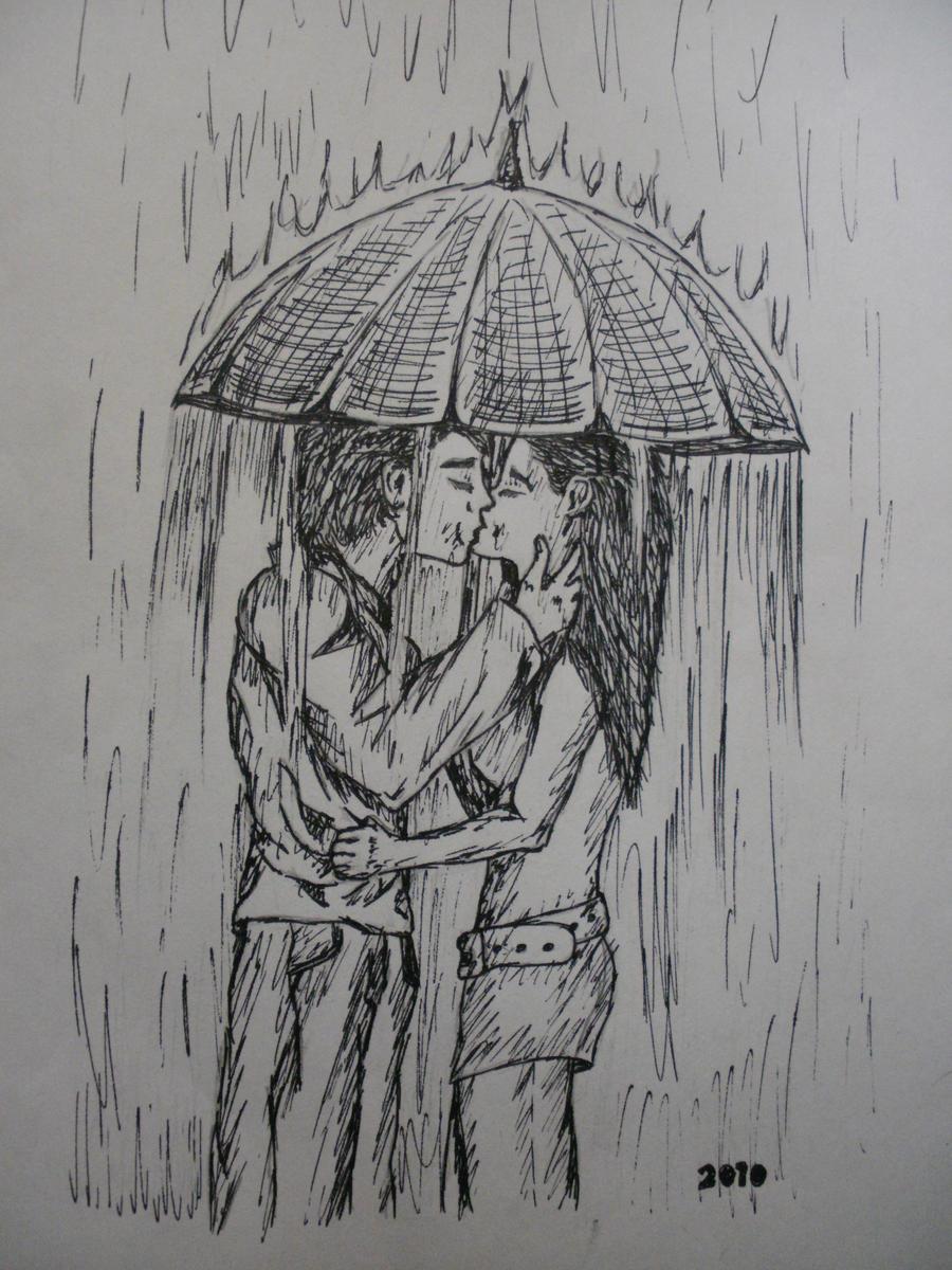 Kiss in the rain by missfricz on DeviantArt