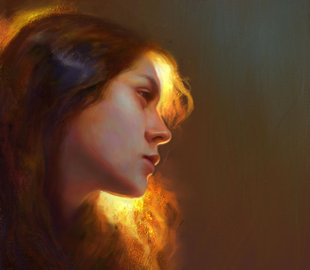 Portrait study by YueQing