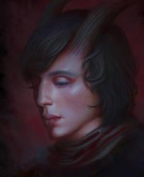 Portrait of my Tiefling