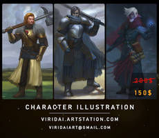 [Commissions Open] Character Illustration