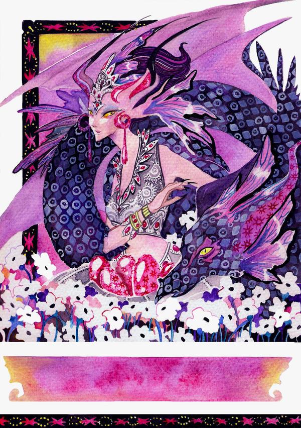 Lady Dragon by Agina