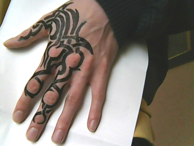 hand tattoo 5 tribal by chromone on deviantart. Black Bedroom Furniture Sets. Home Design Ideas