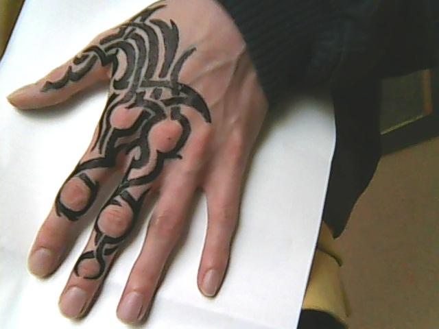 hand tattoo 5 tribal by chromone on deviantart. Black Bedroom Furniture Sets. Home Design Ideas
