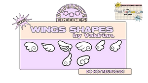 Wings Shapes by Valdrian of DOPESTUDlO