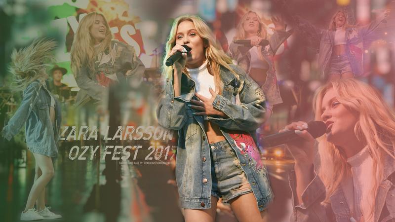 Zara Larsson Ozy Fest Background by zaralarssonn