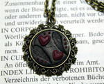 Necklace winged hearts