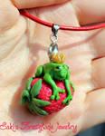 The Frog King loves Strawberries