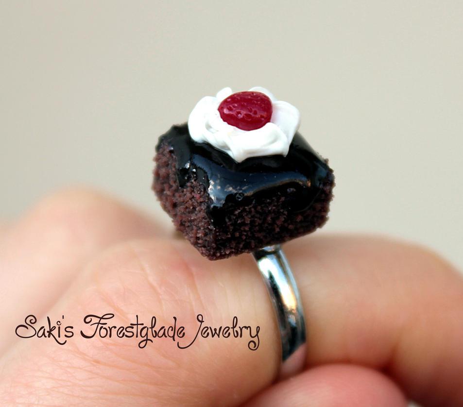 Chocolate brownie ring by Sakiyo-chan