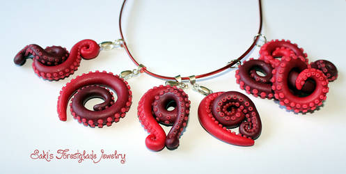tentacle pendants red glimmer