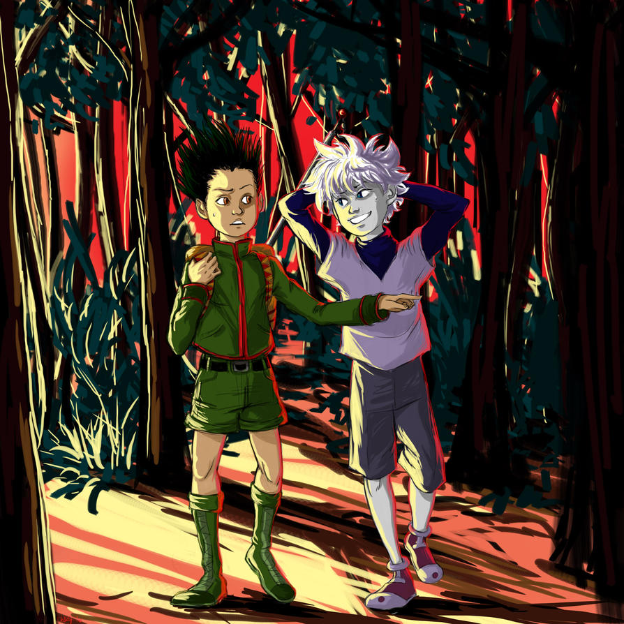 Gon and Killua by chlsjiles