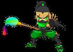 Brush Warrior - Gecko by TheGeckoNinja