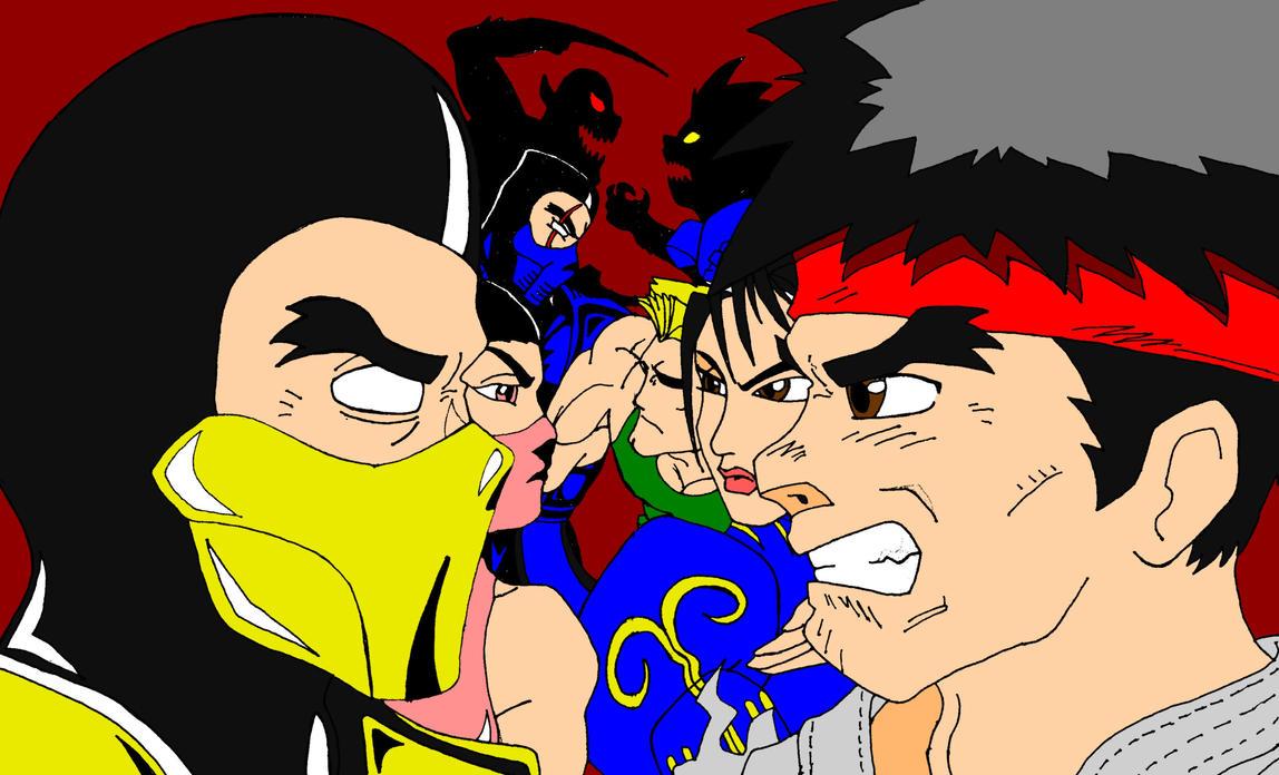 Mortal Kombat VS StreetFighter by TheGeckoNinja