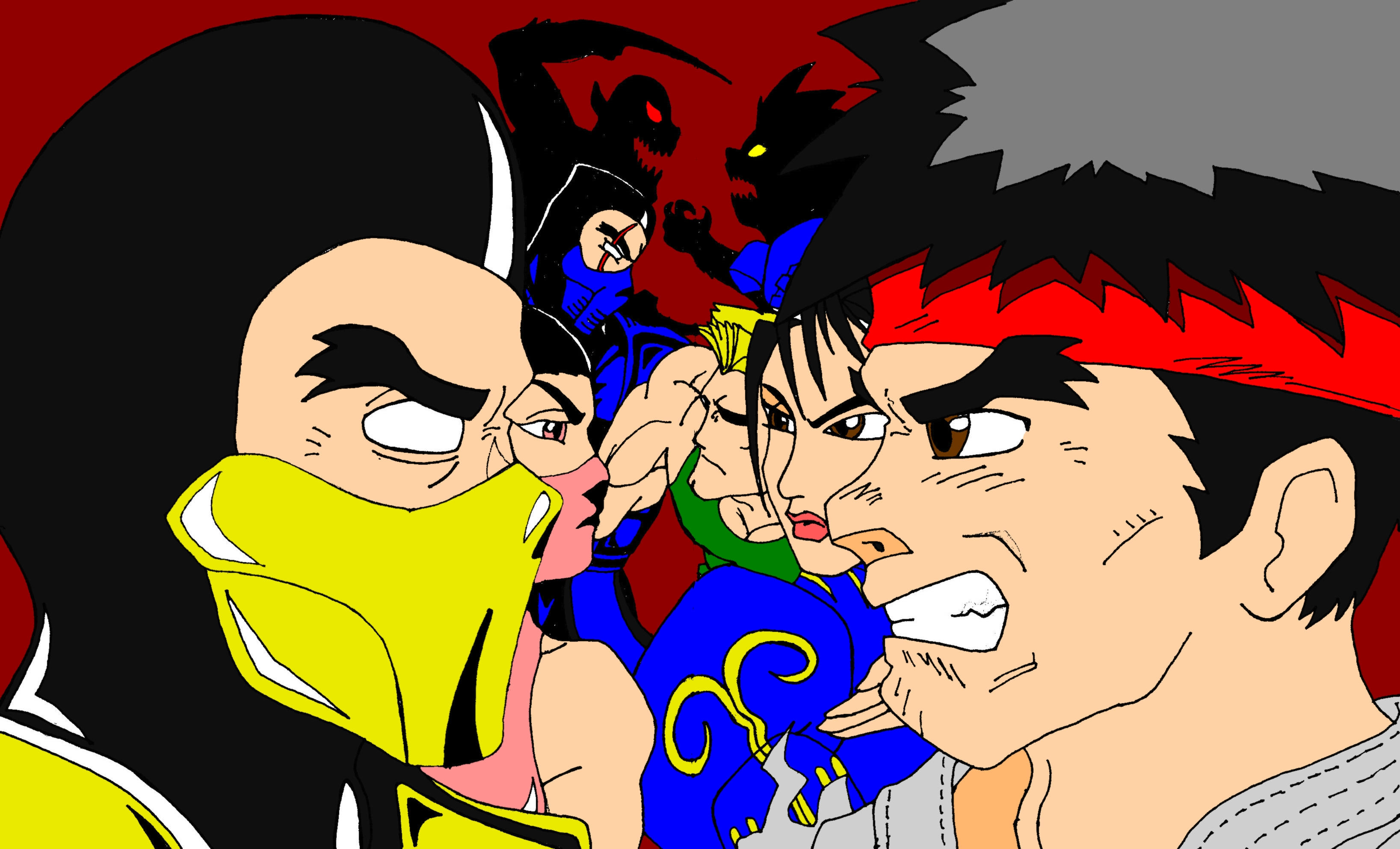 Mortal Kombat VS StreetFighter by TheGeckoNinja