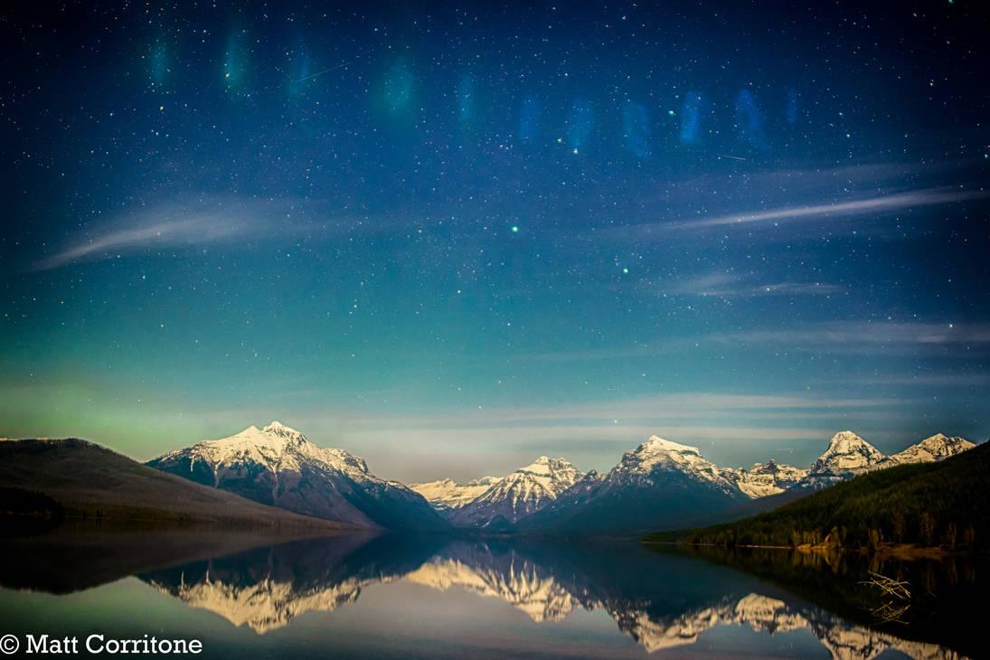 Dancing Lights over Lake McDonald