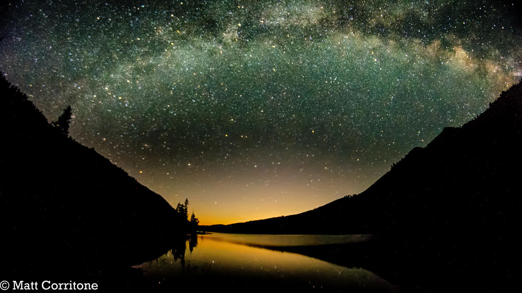 Milky Way, Moon Rise, Montana Summers HDR
