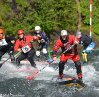 Paddle Board Race on the Upper Clackamas