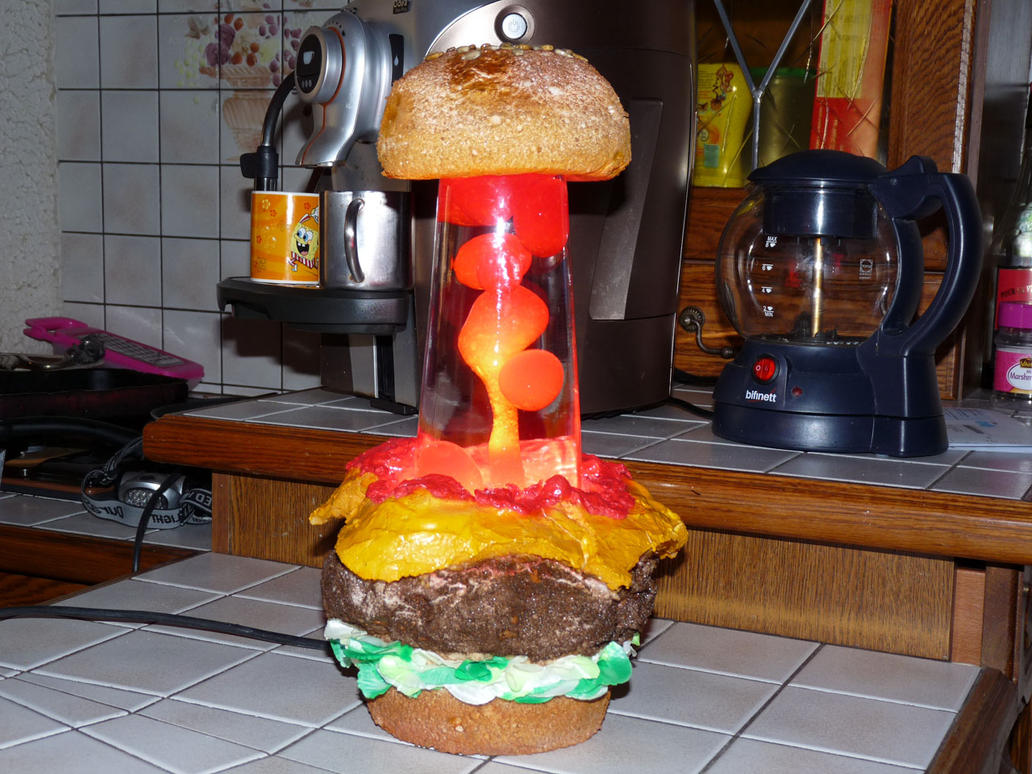Lovely Hamburger Lava Lamp By Dartg ...