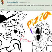 AMaF:Foxy question #29 by The-Star-Hunter