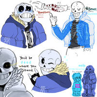 Undertale:~AU Design Sans Sketches~ by The-Star-Hunter