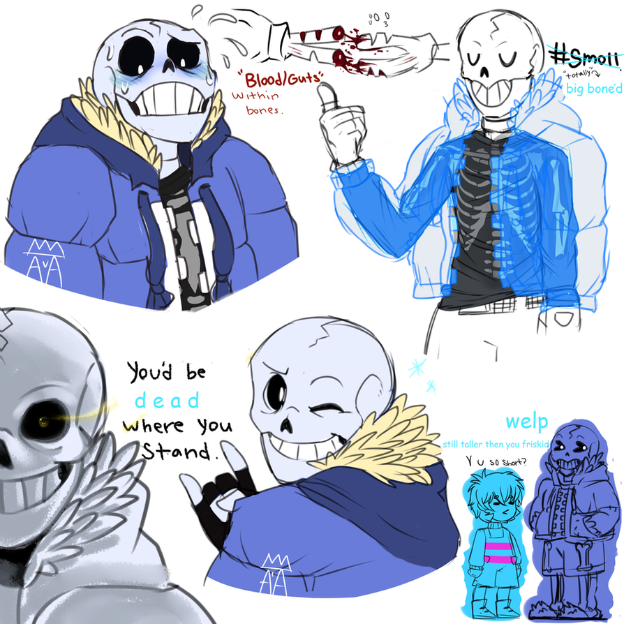 Undertale:~AU Design Sans Sketches~ By The-Star-Hunter On