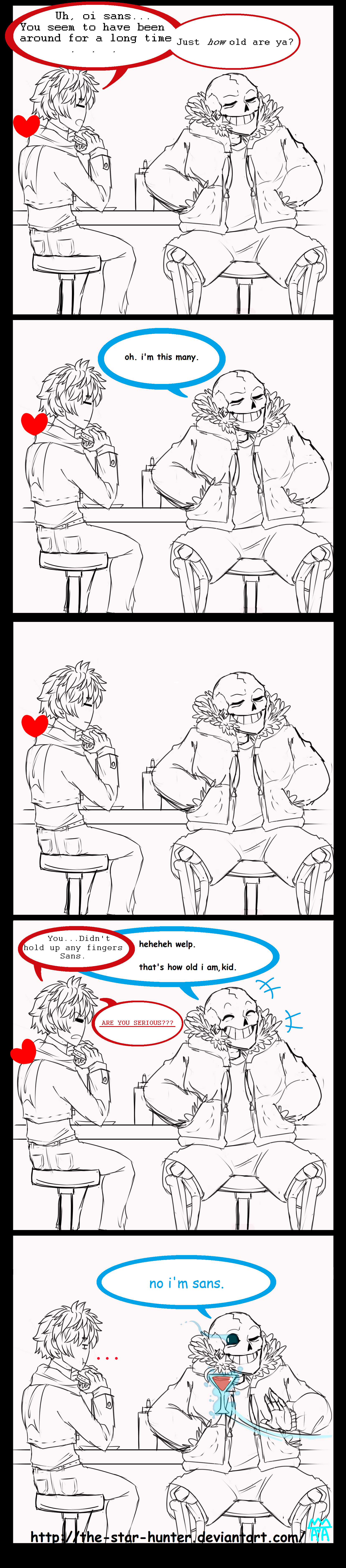 Undertale Comic: ''Sans is old.'' by The-Star-Hunter