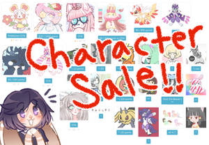 HUGE Character Sale/Purge [OPEN]
