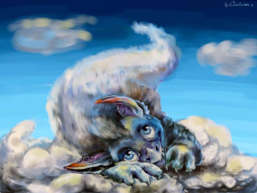The Cloudy dragon cub by Chestersan