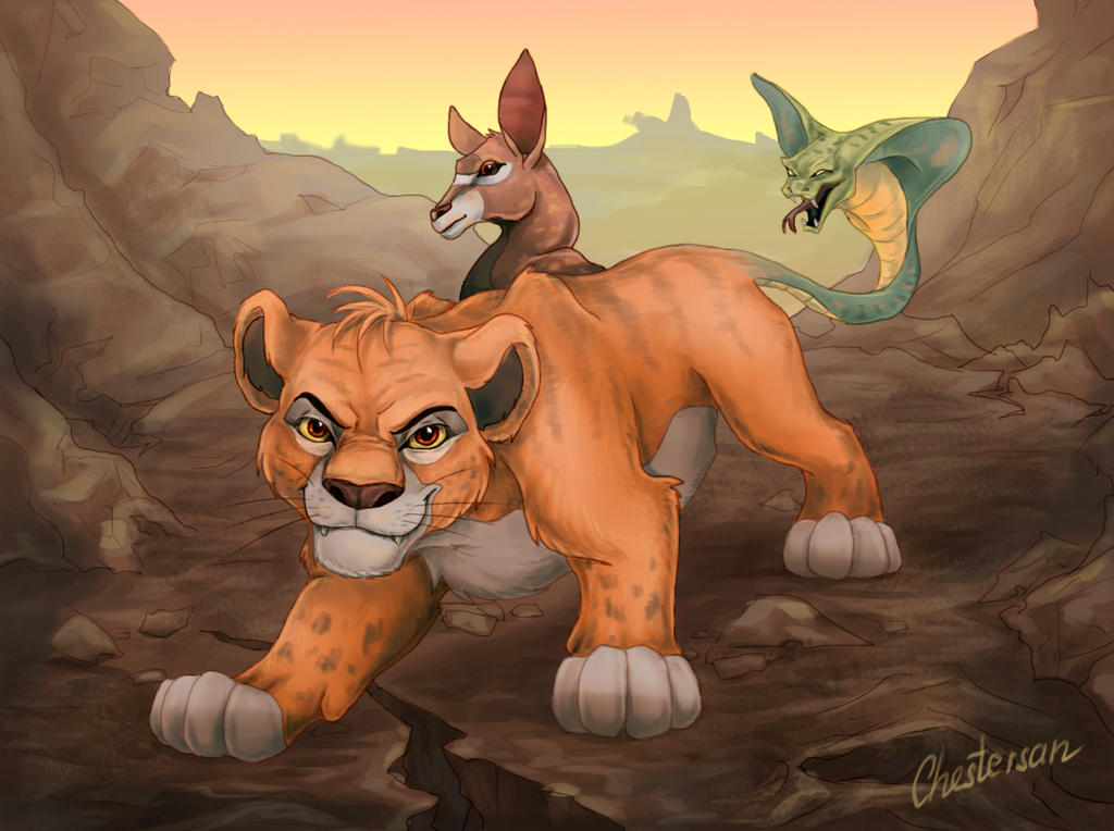 Chimera in Disney style by Chestersan