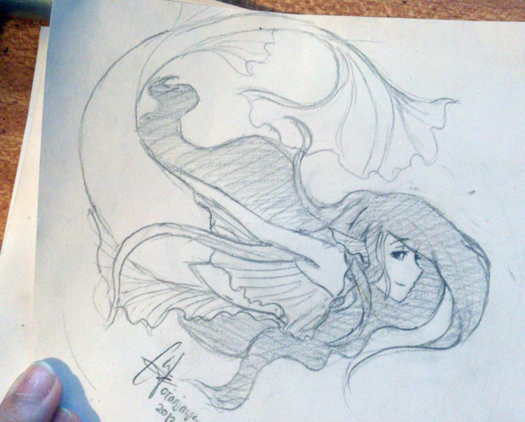 Mermaid Sketch by caixue