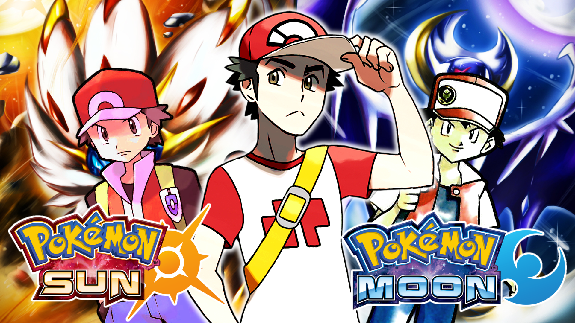 red and blue in sun and moon - photo #16