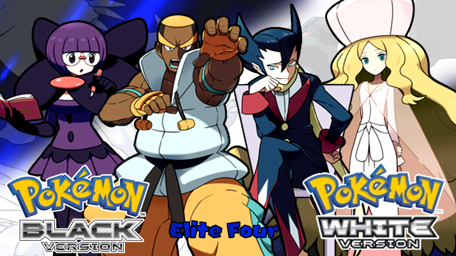 Pokemon Black And White The Elite Four Wallpaper By Mattplaysvg On Deviantart