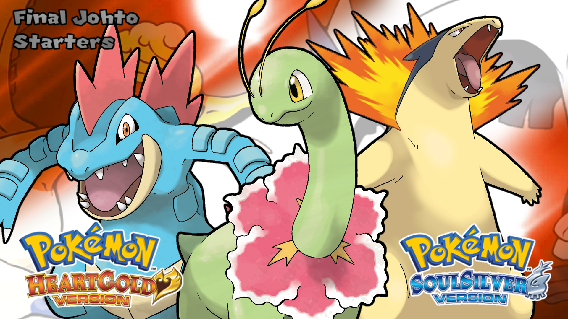 Pokemon Hgss Final Johto Starters Wallpaper By Mattplaysvg On Deviantart