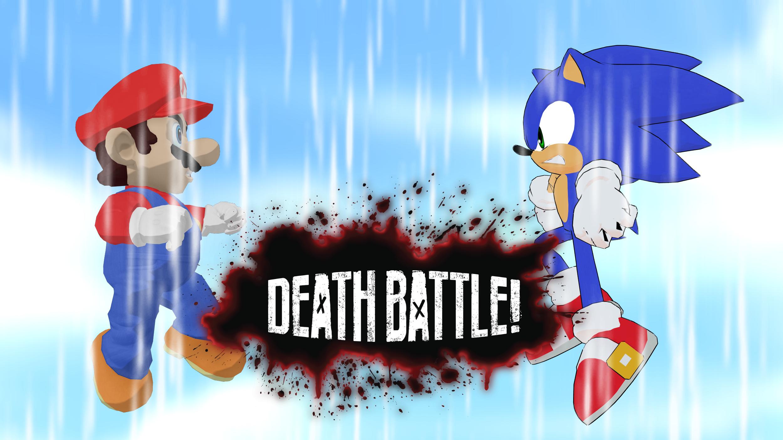 Death Battle Mario Vs Sonic 2018 Wallpaper By Mattplaysvg On Deviantart