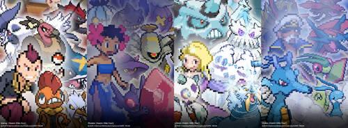 Pokemon - Hoenn Elite Four (Gen III-VI) Poster