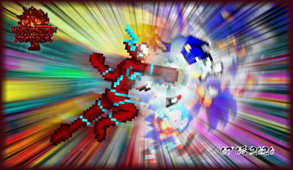 Flash VS Sonic (Wally West VS Archie Sonic)   DB!