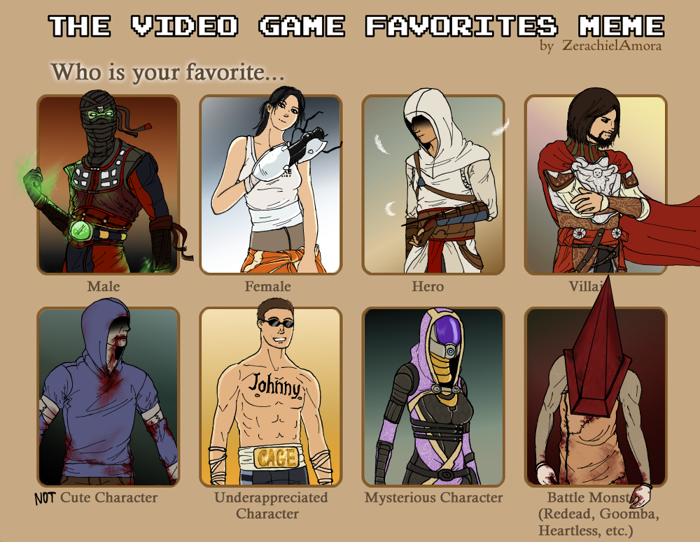 Funny Meme Character : Video game characters meme by metal marty on deviantart