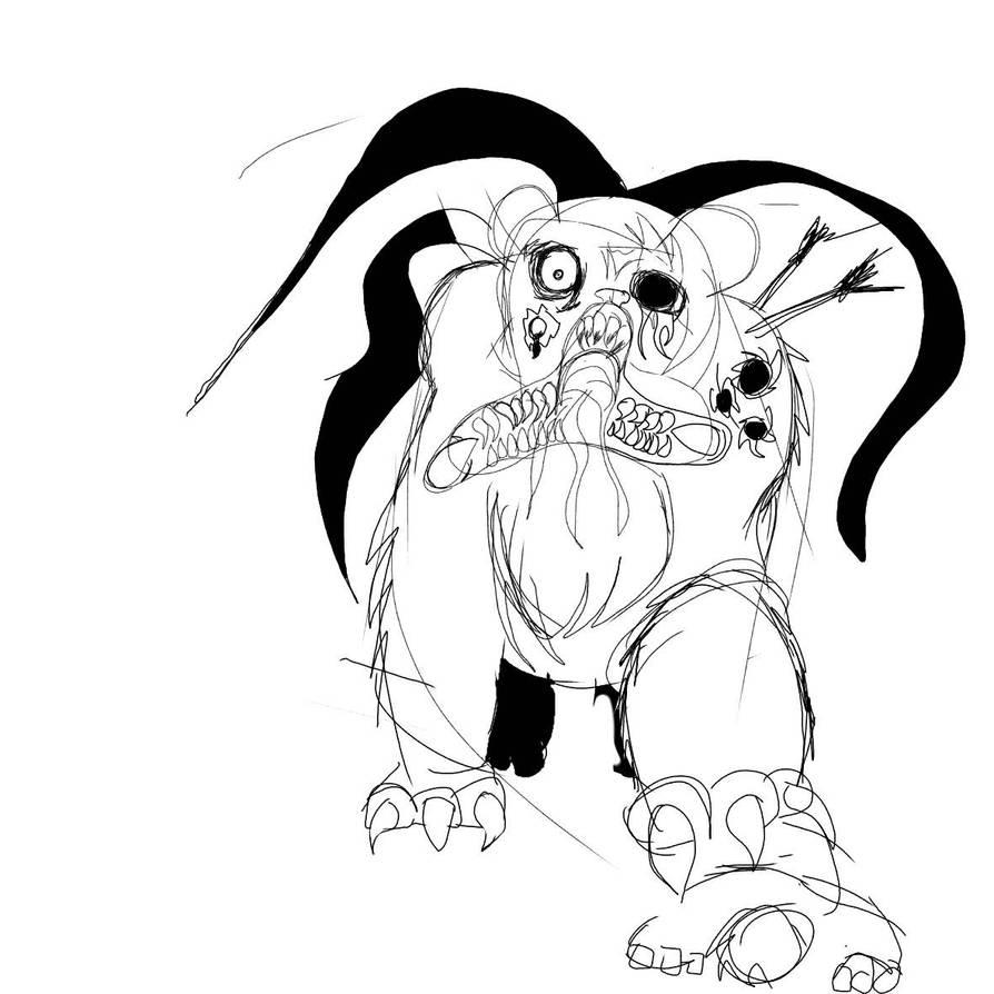 Zombie Bear Sketch By Crazysmile993 On Deviantart